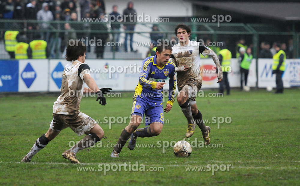 Dejan Mezga #8 of Maribor during football match between ND Mura 05 and NK Maribor in 21th Round of Slovenian First League PrvaLiga NZS 2012/13 on December 2, 2012 in Murska Sobota, Slovenia. (Photo By Ales Cipot / Sportida)