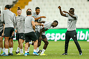 Liverpool midfielder Naby Keita (8) runs through a tunnel of players during the Liverpool Training session ahead of the 2019 UEFA Super Cup Final between Liverpool FC and Chelsea FC at BJK Vodafone Park, Istanbul, Turkey on 13 August 2019.