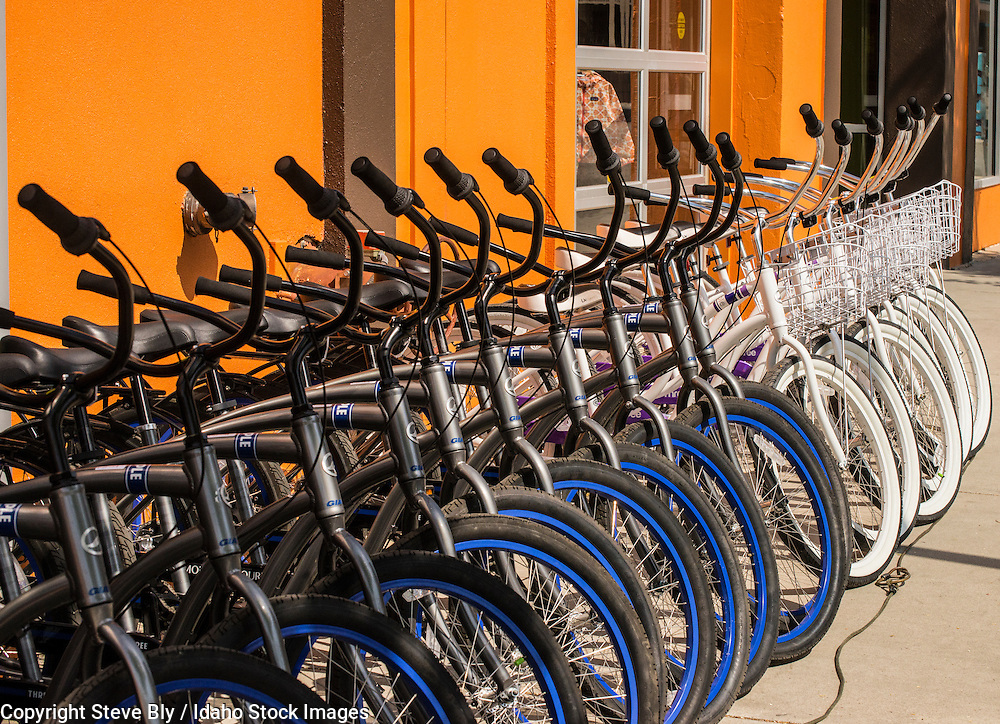 Bikes for rent in downtown Boise, Idaho