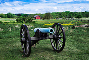 Canon on battlefield, Gettysburg National Military Park, Pennsylvania, USA