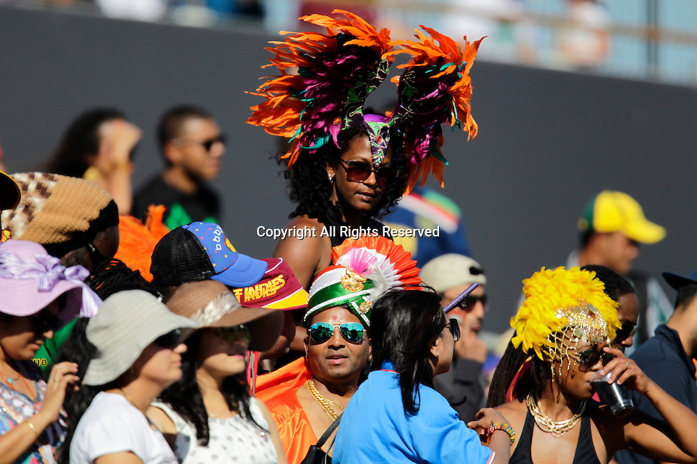 06.03.2015. Perth, Australia. ICC Cricket World Cup. India versus West Indies. West Indian supports bring some colour to the game.