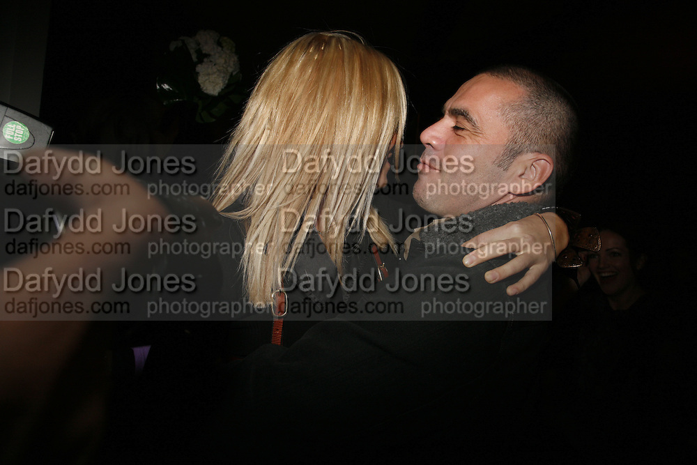 Sienna MIller and Roland Mouret, Pepe Jeans, Sienna Miller  new ambassador party. 17 Berkeley Street, London, W1.  4 October 2006. -DO NOT ARCHIVE-© Copyright Photograph by Dafydd Jones 66 Stockwell Park Rd. London SW9 0DA Tel 020 7733 0108 www.dafjones.com