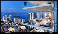 Background image with composed rendering for Parmount Miami World Center.