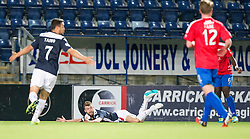 Falkirk's Rory Loy brought down for a penalty by Cowdenbeath's Nathaniel Wedderburn.<br /> Falkirk beat Cowdenbeath in a penalty shoot-out, second round League Cup tie played at The Falkirk Stadium.