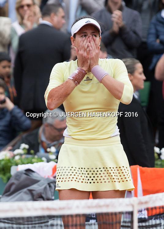 Siegerin Garbine Muguruza (ESP) ,Damen Final, Endspiel,<br /> ,<br /> <br /> Tennis - French Open 2016 - Grand Slam ITF / ATP / WTA -  Roland Garros - Paris -  - France  - 4 June 2016.