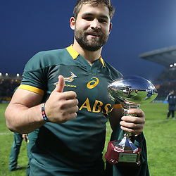 PADUA, ITALY - NOVEMBER 22: Man of the match Cobus Reinach of South Africa during the Castle Lager Outgoing Tour match between Italy and South African at Stadio Euganeo on November 22, 2014 in Padua, Italy. (Photo by Steve Haag/Gallo Images)