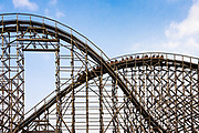 El Toro wooden roller coaster, Great Adventure, Six Flags, New Jersey, USA