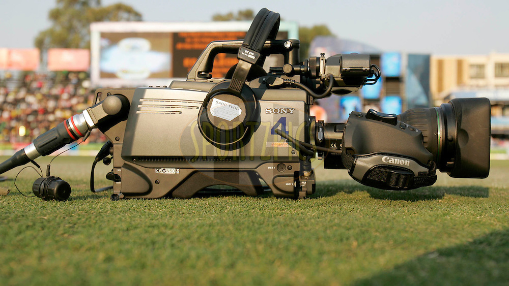 CLT20 Camera during the Final of the Airtel Champions League T20 held between the Chennai Superkings and the Warriors at Wanderers Stadium in Johannesburg on the 26th September 2010..Photo by Abbey Sebetha/SPORTZPICS/CLT20