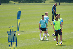 Luka Zahovic and Rene Krhin during training of Slovenian national football team before friendly match against Montenegro, on May 30, 2018 in National Football Centre, Brdo pri Kranju, Kranj, Slovenia. Photo by Urban Urbanc / Sportida