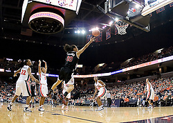 Maryland guard Kristi Toliver (20) shoots against Virginia.  The Virginia Cavaliers women's basketball team fell to the #4 ranked Maryland Terrapins 74-62 at the John Paul Jones Arena in Charlottesville, VA on January 18, 2008.
