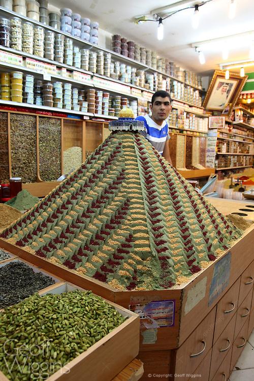 Palestinian shop keeper, Ramallah, Palestine Territory Occupied