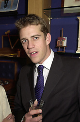 MR BEN ELLIOT nephew of Camilla Parker Bowles, at a reception in London on 26th September 2000.OHI 98