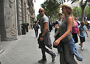 MADRID, SPAIN, 2016, MAY 25 <br /> <br /> Bar Refaeli is one of the most famous models of the moment, which has managed to turn his career into a complete success thanks to their effort and an enviable physique. Pregnant industrialist Adi Ezra, the Israeli top has been removed from the frenetic life that their work entails. Taking advantage of his free time he has traveled to Barcelona to attend the multitudinous concert by the singer Adele. Consecrated model arrived at the hotel where he is staying, sporting a rare sight on it with a very simple dress summer suspenders, sunglasses and a hat flattering.<br /> ©Exclusivepix Media