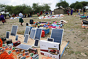 Solar panels for sale the the Massai Market, Tanzania