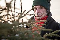 Rick sells Christmas trees at the corner of Northern Lights and Eagle Street, Anchorage