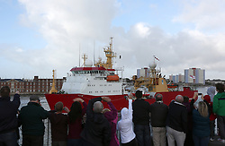 © under license to London News Pictures.  17/10/2013 HMS PROTECTOR LEAVES PORTSMOUTH FOR THE LAST TIME. Picture credit should read: Bryan Moffat/London News Pictures