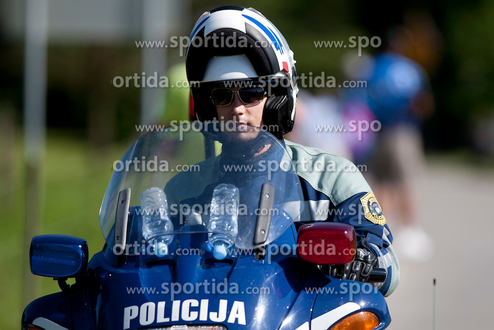 Policeman during 2nd Stage (177,4 km) at 19th Tour de Slovenie 2012, on June 15, 2012, in Metlika, Slovenia. (Photo by Urban Urbanc / Sportida.com)