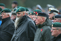 Veterans commemorate at a Remembrance Sunday service at the Commando Memorial near Fort William, held in tribute for members of the armed forces who have died in major conflicts.