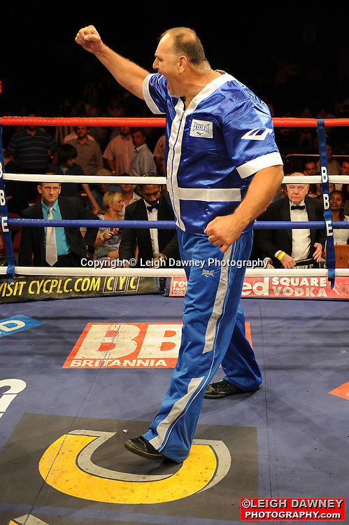 Tyson Fury defeats John McDermott at the Brentwood Centre on 25th June 2010.Frank Maloney Promotions. Photo credit: © Leigh Dawney