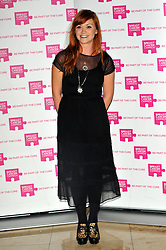 Arielle Free attends the launch party for Breast Cancer Campaign at Tower 42, London, England, October 1, 2012. Photo by Chris Joseph / i-Images.