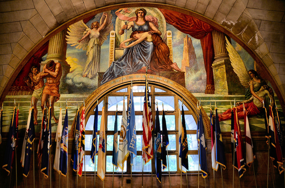 Justice Mural in Allegheny County Courthouse by Vincent Nesbert in Pittsburgh, Pennsylvania<br />