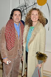PHILIP GUMUCHDJIAN and ELIZA POKLEWSKI KOZIELL at a private view 'Urushi Lacquer - East Meets West' celebrating the ancient tradition of Japanese lacquer art held at the South Kensington Club Mews House, Queensberry Mews, London SW7 on 12th March 2015.