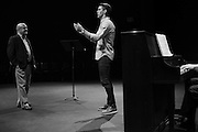 Justin Tucker practices his non-football passion of opera singing in Fort Worth, Texas on May 13, 2016. (Cooper Neill for The Players Tribune)