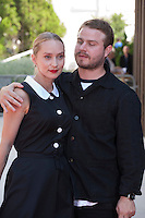 Mona Fastvold and Brady Corbet at the gala screening for the film The Childhood of a Leader at the 72nd Venice Film Festival, Saturday September 5th 2015, Venice Lido, Italy.