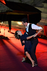 October 5, 2016 - Vatican City, Vatican - Tango during Conference Sport at service of humanity, at the Vatican on october 05, 2016  The goal of the conference is to create a forum where leaders from different religious faiths, sports, business, academia and media can discuss how faith and sport can work together to better serve humanity. (Credit Image: © Silvia Lore/NurPhoto via ZUMA Press)