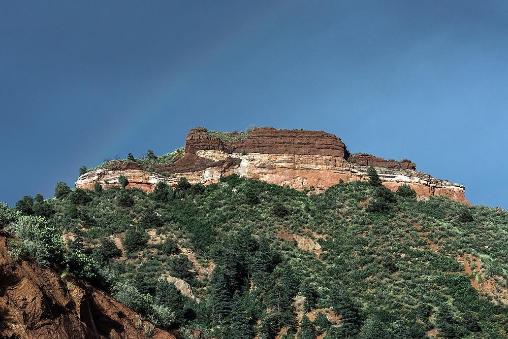 Mesa rock formation, Colorado, USA.