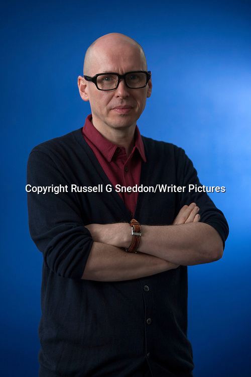 David Peace at the Edinburgh International Book Festival 2013. 15th August 2013<br /> <br /> Picture by Russell G Sneddon/Writer Pictures