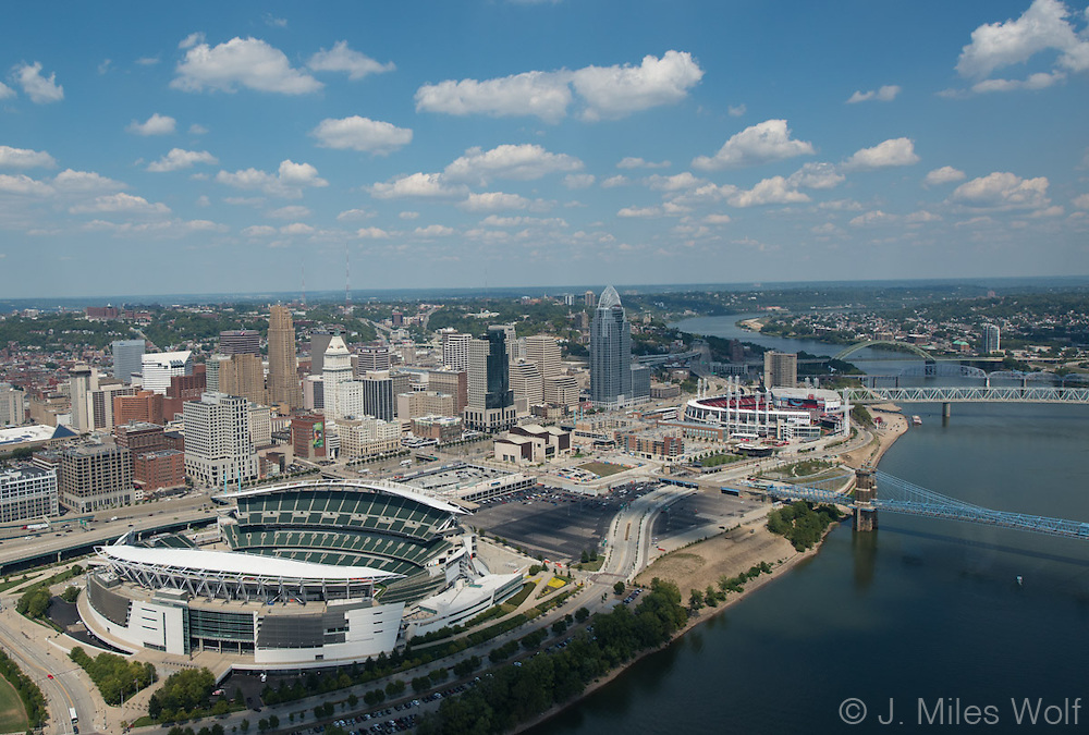 Cincinnati Skyline and Stadiums