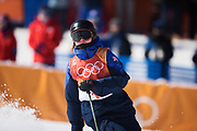 PYEONGCHANG-GUN, SOUTH KOREA - FEBRUARY 17: Isabel Atkin of Great Britain during the Womens Slopestyle Freestyle Skiing on day eight of the PyeongChang 2018 Winter Olympic Games at Phoenix Snow Park on February 17, 2018 in Pyeongchang-gun, South Korea. Photo by Nils Petter Nilsson/Ombrello               ***BETALBILD***
