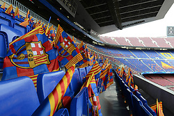 A general view of Camp Nou with flags laid out on seats - Photo mandatory by-line: Dougie Allward/JMP - Mobile: 07966 386802 - 18/03/2015 - SPORT - Football - Barcelona - Nou Camp - Barcelona v Manchester City - UEFA Champions League - Round 16 - Second Leg