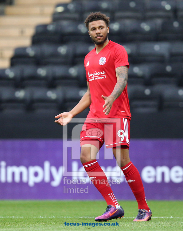 Jonathan Edwards of Accrington Stanley during the warm up before the Sky Bet League 2 match at Meadow Lane, Nottingham<br /> Picture by James Wilson/Focus Images Ltd 07522 978714‬‬<br /> 25/08/2017