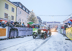 04.01.2018, Schladming, AUT, Planai-Classic 2018, Start zum Dachstein Prolog, im Bild Arie Roest und Tineke Roest (NED), Wolseley Hornet Sports, Bj. 1930 // during the Planai-Classic 2018 in Schladming, Austria on 2018/01/04. EXPA Pictures © 2018, PhotoCredit: EXPA / Martin Huber