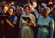 Mennonite Choir, Washington Square Park, New York City, New York, USA, August 1984