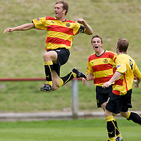 Partick Thistle v St Johnstone..23.08.08<br /> Ian Maxwell celebrates his goal which made it 2-0<br /> Picture by Graeme Hart.<br /> Copyright Perthshire Picture Agency<br /> Tel: 01738 623350  Mobile: 07990 594431