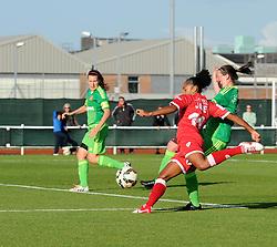 Bristol Academy's Jade Boho Sayo has an opportunity - Mandatory by-line: Paul Knight/JMP - 25/07/2015 - SPORT - FOOTBALL - Bristol, England - Stoke Gifford Stadium - Bristol Academy Women v Sunderland AFC Ladies - FA Women's Super League