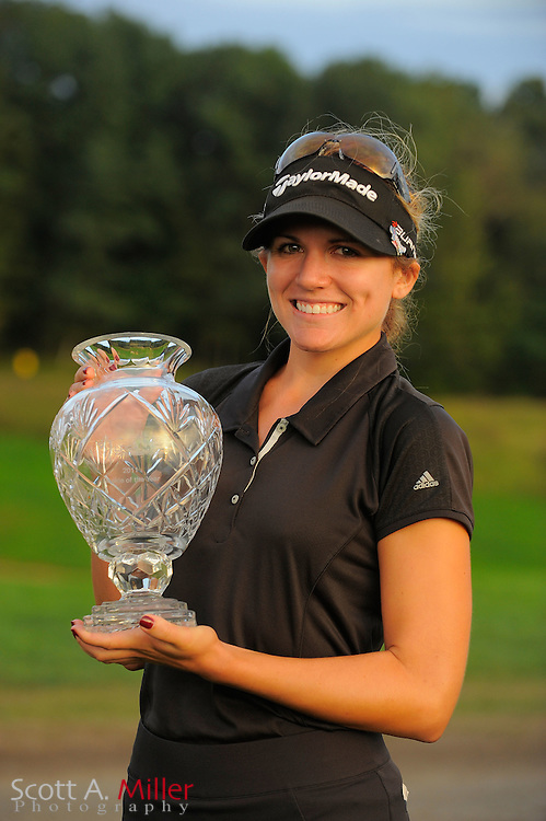 Sydnee Michaels with the winner's trophy after the final round of the LPGA Future Tour's Price Chopper Tour Championship at Capital Hills at Albany on Sept. 11, 2011 in Albany, N.Y...©2011 Scott A. Miller