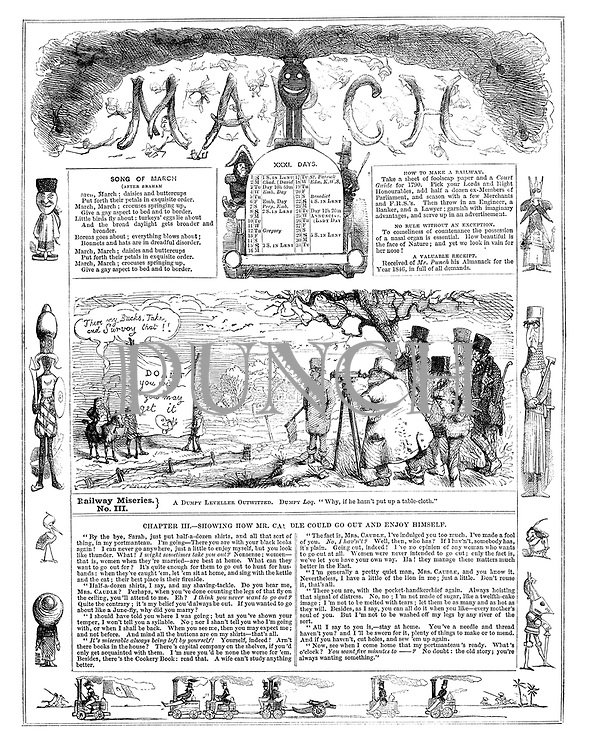 Punch Almanack 1846 March