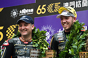 Michael RUTTER, GBR, Aspire-Ho by Bathams Racing HONDA RC213V, Peter HICKMAN, GBR, Aspire-Ho by Bathams Racing BMW S 1000 RR<br /> <br /> 65th Macau Grand Prix. 14-18.11.2018.<br /> Suncity Group Macau Motorcycle Grand Prix - 52nd Edition.<br /> Macau Copyright Free Image for editorial use only