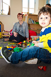 Pictured: Ilyes Hamza was more interested in the fuss that meeting Angela Constance, Communities Secretary<br /> Today Communities Secretary  Angela Constance visited Dr Bells family centre, where she met staff and volunteers ahead of the first Tackling Child Poverty Delivery Plan being published.<br /> <br /> <br /> Ger Harley | EEm 29 March 2018