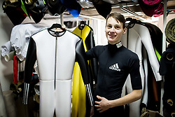 Ski jumper Domen Prevc of Slovenia with custom made Ski Jumping suits at Dali sport d.o.o., on December 6, 2016 in Lesce, Slovenia. Photo by Vid Ponikvar / Sportida