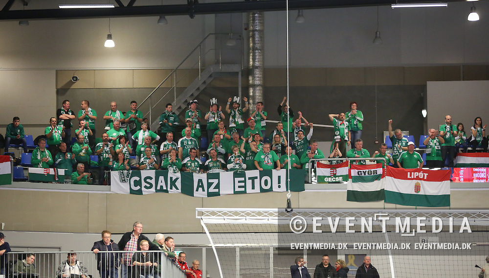Györ fans. EHF Champions League Main Round group match between Team Esbjerg and Györi Audi ETO KC in Blue Water Dokken, Esbjerg, Danmark, 5.02.2017. Photo Credit: Allan Jensen/EVENTMEDIA.