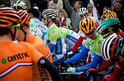 Primoz Roglic, Jan Tratnik of Slovenia prior to the Men's Elite Road Race a 258.5km race from Kufstein to Innsbruck 582m at the 91st UCI Road World Championships 2018 / RR / RWC / on September 30, 2018 in Innsbruck, Austria. Photo by Vid Ponikvar / Sportida