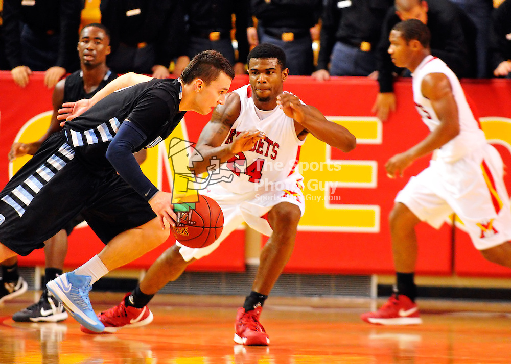 NCAA Men's Basketball - VMI drills Virginia University of Lynchburg, 102-61.
