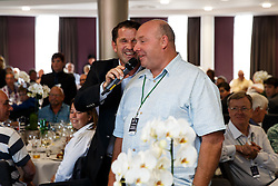 Ben Breeze surprises guests with Birthday's during a Q&A in the Heineken Lounge before the match - Mandatory byline: Rogan Thomson/JMP - 07966 386802 - 06/09/2015 - RUGBY UNION - Ashton Gate Stadium - Bristol, England - Bristol Rugby v Bedford Blues - Greene King IPA Championship.