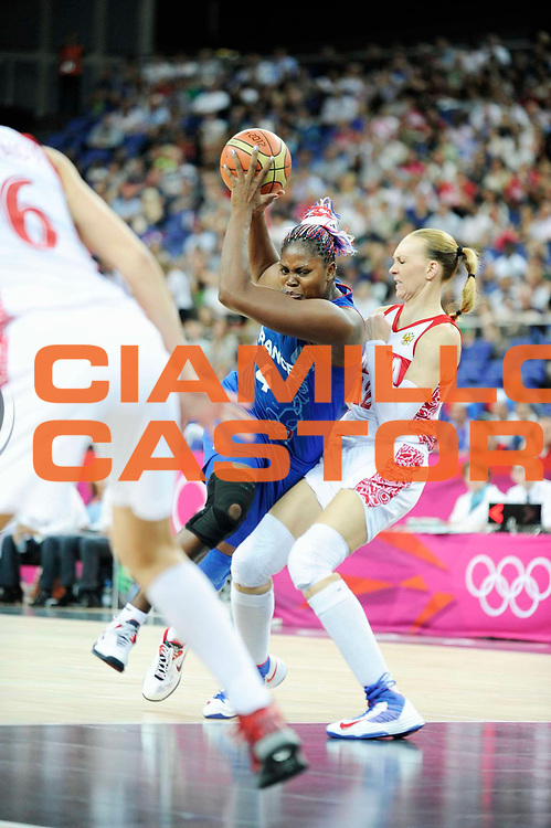 DESCRIZIONE : Basketball Jeux Olympiques Londres Demi finale<br /> GIOCATORE : Yacoubou Isabelle<br /> SQUADRA : France  FEMME<br /> EVENTO : Jeux Olympiques<br /> GARA : France Russie<br /> DATA : 09 08 2012<br /> CATEGORIA : Basketball Jeux Olympiques<br /> SPORT : Basketball<br /> AUTORE : JF Molliere <br /> Galleria : France JEUX OLYMPIQUES 2012 Action<br /> Fotonotizia : Jeux Olympiques Londres demi Finale Greenwich Northwest Arena<br /> Predefinita :