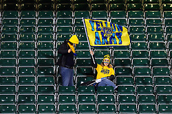 Clermont Auvergne fans in the crowd show their support prior to the match - Mandatory byline: Patrick Khachfe/JMP - 07966 386802 - 06/12/2019 - RUGBY UNION - The Recreation Ground - Bath, England - Bath Rugby v Clermont Auvergne - Heineken Champions Cup